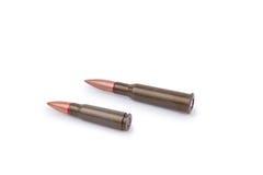 Dos balas del rifle Fotos de archivo libres de regalías