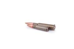 Dos balas del rifle Fotografía de archivo