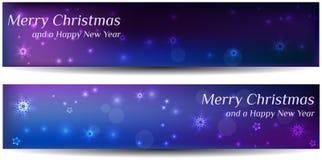 Dos banderas de la Navidad Foto de archivo libre de regalías