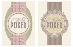 Dos banderas del póker del vintage Imagen de archivo libre de regalías