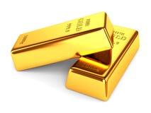 Dos barras de oro Imagen de archivo libre de regalías