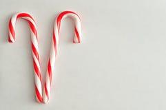 Dos bastones de caramelo Foto de archivo libre de regalías