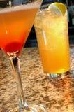 Dos bebidas Foto de archivo libre de regalías