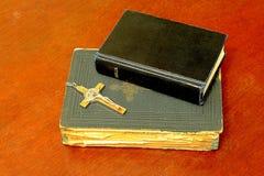 Dos biblias Imagenes de archivo