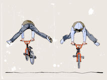 Dos bicyclists Libre Illustration