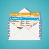 Dos billetes de avión adentro envuelven Foto de archivo libre de regalías