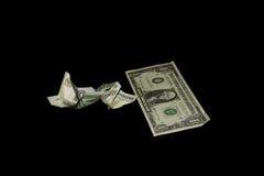 Dos billetes de banco Fotografía de archivo libre de regalías