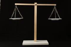 Dos blanco Pan Balance Fotos de archivo
