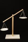 Dos blanco Pan Balance Foto de archivo libre de regalías