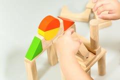 Dos blocos divertimento de madeira assim Imagens de Stock Royalty Free