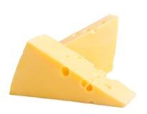 Dos bloques de queso Foto de archivo libre de regalías