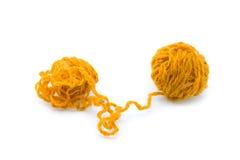 Dos bolas de cuerdas de rosca Fotos de archivo libres de regalías