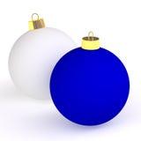 Dos bolas de la Navidad Imágenes de archivo libres de regalías