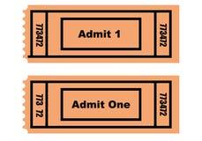 Dos boletos Imagen de archivo libre de regalías