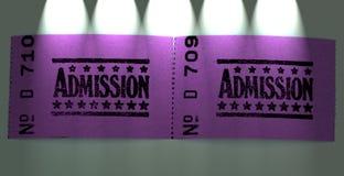 Dos boletos de la admisión Foto de archivo