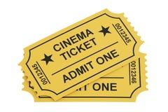 Dos boletos del cine, representación 3D Fotos de archivo libres de regalías