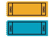Dos boletos en blanco Imagen de archivo