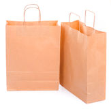 Dos bolsas de papel ecológicas Fotos de archivo