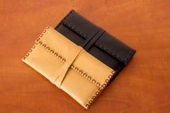Dos bolsas de tabaco de cuero Imagen de archivo