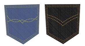 Dos bolsillos de los pantalones vaqueros stock de ilustración