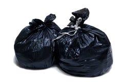 Dos bolsos de basura Imágenes de archivo libres de regalías
