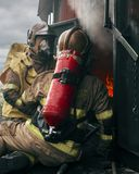 Dos bombero, Dublín, Irlanda foto de archivo libre de regalías