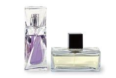 Dos botellas con la perfumería Imágenes de archivo libres de regalías
