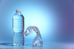 Dos botellas de agua Fotografía de archivo libre de regalías