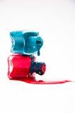 Dos botellas de barniz Imagen de archivo libre de regalías