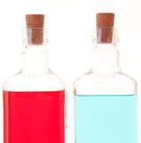 Dos botellas de cristal Fotografía de archivo libre de regalías