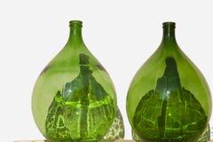 Dos botellas de la vid Foto de archivo libre de regalías