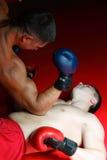 Dos boxeadores en un anillo Fotos de archivo