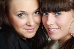Dos brunettes hermosos fotografía de archivo libre de regalías