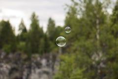 Dos burbujas de jabón Foto de archivo libre de regalías