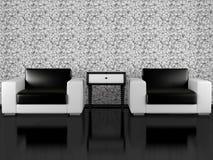 Dos butacas modernas de interior Imagenes de archivo
