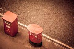 Dos buzones de correos Imágenes de archivo libres de regalías