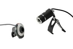 Dos cámaras de Web Imagen de archivo libre de regalías