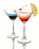 Dos cóctel martini Foto de archivo libre de regalías