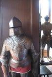 Dos caballeros en el castillo de Reichsburg imagen de archivo