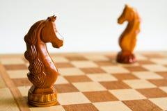 Dos caballos del ajedrez Imagen de archivo libre de regalías