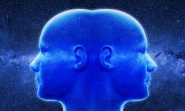 Dos cabezas en de space Fotografía de archivo