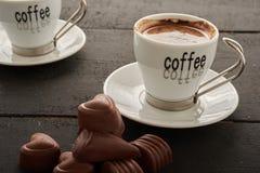 Dos café y dulces Imagen de archivo libre de regalías