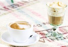 Dos cafés Imágenes de archivo libres de regalías