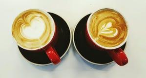 Dos cafés Foto de archivo libre de regalías