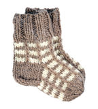 Dos calcetines de las lanas Foto de archivo libre de regalías