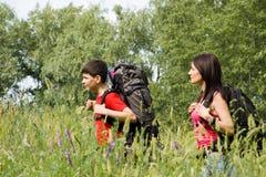 Dos caminantes Imagenes de archivo