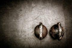 Dos campanas de la caldera en el piso Imágenes de archivo libres de regalías