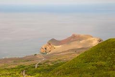 Dos Capelinhos van de vulkaan Royalty-vrije Stock Fotografie