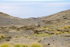 Dos Capelinhos van de vulkaan Stock Foto's