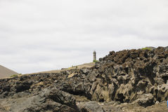 Dos Capelinhos van de vulkaan Stock Foto